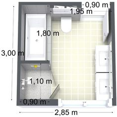 Décoration Maison Idée décoration Salle de bain  bathroom floor plan