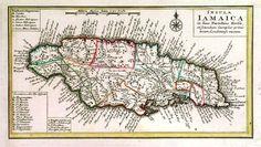 Spanish map of Jamaica, ca 1740.