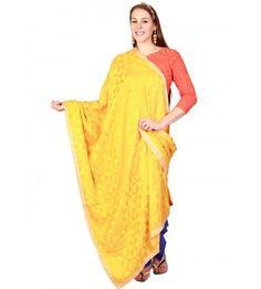 Hand made phulkari parantha jaal dupatta that features hand work. The dupatta is 2.3 metres long.