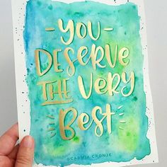You deserve the very best. Day 19 of #BloomInApril