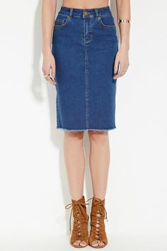Contemporary Denim Skirt | LOVE21 - 2000163888