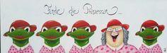 Man(n) muss viele Frösche küssen, um die tollste Prinzessin zu finden!  .. Bilder von NELL (Cornelia Elbers).. http://de.dawanda.com/shop/bildervonnell.. https://www.facebook.com/Bilder.von.NELL/?fref=photo