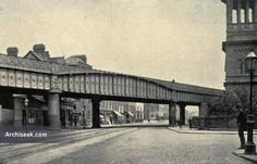 1891 - Railway Bridge, Amiens Street, Dublin. Architect: John Chaloner Smith & William H. Mills Part of the Loop Line constructed to connect the Great Northern at Amiens Street with the Dublin, Wicklow