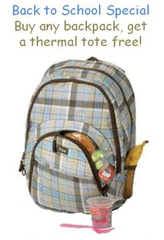 Get a thermal lunch tote free!