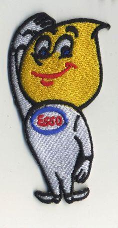 esso drip patch badge motor oil hot rod drag race sales service station mechanic