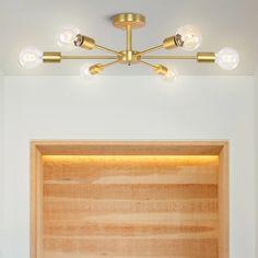 #modernchandelier #6-lightchandelier #semiflushceilinglight #decorativelights #lightfixture #modernlighting