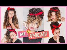 5 Penteados com Bandana no Cabelo Cacheado | por Bélit Araújo - YouTube Love Songs Playlist, Hair Styler, Natural Shampoo, Afro Hairstyles, Rapunzel, My Hair, Poses, Amanda, Curly Hair Styles