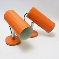 Located using retrostart.com > Orange Tube Wall Lamp by Unknown Designer for Raak Amsterdam