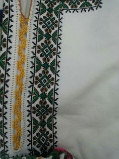 Cross Stitch Embroidery, Hand Embroidery, Needlework, Diy And Crafts, Costumes, Traditional, Palestine, Sewing, Handmade