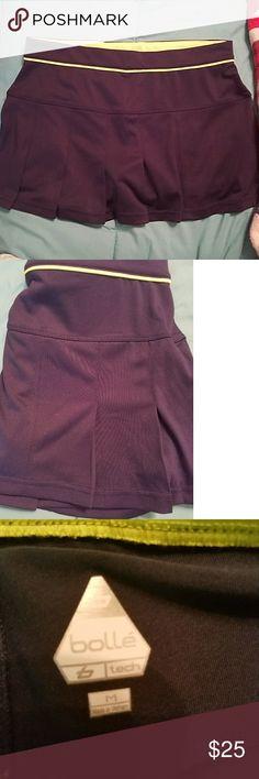 Bolle tech pleated tennis skirt sz m Navy blue bolle pleated tennis skirt sz m. Like new!! bolle Skirts