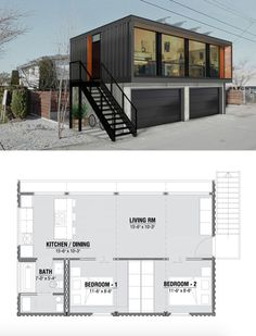 prefabricated houses from transport containers. prefabricated houses from transport containers. Designed by HonoMobo prefabricated houses from transport containers. Designed by HonoMobo - Prefab Shipping Container Homes, Shipping Container Home Designs, Sea Container Homes, Building A Container Home, Container Buildings, Storage Container Homes, Container Architecture, Container Shop, Cheap Shipping Containers