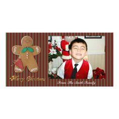 Merry Christmas Photo card gingerbread man