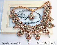 "PrettyNett - unique handmade beaded jewelry: Necklace ""Hindia"""