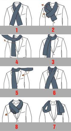 1000 images about nouer et porter une charpe on pinterest comment scarfs and snood - Nouer une echarpe ...