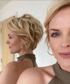 Pixie Hairstyles, Short Hairstyles For Women, Pixie Haircut, Curled Hairstyles, Chic Hairstyles, How To Curl Short Hair, Short Hair Cuts, Chic Short Hair, Very Short Hair