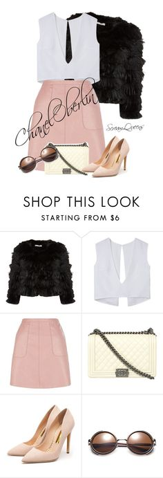"""""""Chanel Oberlin"""" by emilywojcik18 ❤ liked on Polyvore featuring Alice + Olivia, Chanel and Rupert Sanderson"""