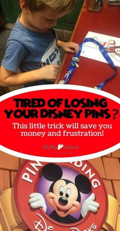 Disney Tip to Help you Save Money (or at least not lose it)! If you are into pin trading at Disney, but hate losing your pins off the lanyard, this post explains the simple solution I found to keep the pins secure on your lanyard while wandering Walt Disney World. | #Disney #Disneypintrading #DisneyWorldTips