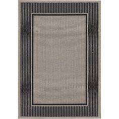 Couristan Tides Astoria Rug, Black/Grey