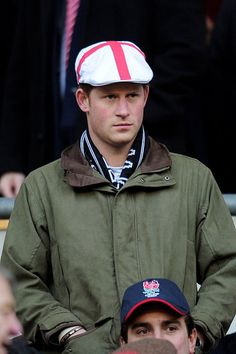 Game Face  Prince Harry prepares for a championship rugby match between England and France in London on Feb. 26, 2011.