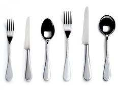 English Stainless Steel Six-piece Cutlery Place Setting - David Mellor Design