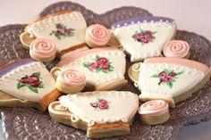 Sugar Bea's Blog: Tea Cup Cookies {for a tea party}