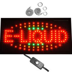 "Bright Smoke Shop E-Cig Accessories Store Mart LED Open Motion Sign 19x10"" neon #AhhaProducts"