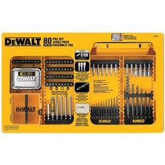DEWALT DW2587 80-Piece Professional Drilling/Driving Set --- http://www.amazon.com/DEWALT-DW2587-80-Piece-Professional-Drilling/dp/B004SL30RC/ref=sr_1_23/?tag=telexintertel-20