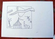 """Ilustrador Alexiev Gandman: Bocetos para la ilustración que hice en el libro """"El circo de los hermanos ABC"""""""