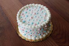Gender Reveal Cake!! I can't wait to do this the next time we have a baby =))