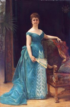 Worth evening dress worn by Louise van Loon-Borken in her portrait by Alexandre Cabanel, 1887 From the Museum van Loon