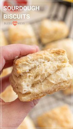 No waiting for dough to rise or yeast to activate, these are quick sourdough biscuits that are tender, flaky, and golden-brown, perfect for a breakfast side! Sourdough Biscuits, Sourdough Rolls, Sourdough Recipes, Homemade Biscuits, Bread Recipes, Starter Recipes, Sourdough Starter Discard Recipe, Sausage Gravy, Artisan Bread