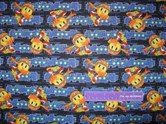 Disney Pac-Man And The Ghostly Adventures Circuit Cotton Fabric By The Half Yard by DaMommasTextiles on Etsy