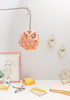 a woven pendant lamp... | Oh Joy! | Bloglovin'