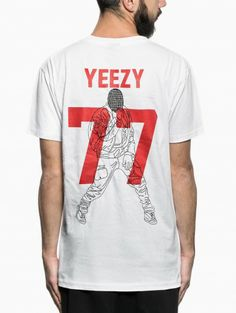"""""""Yeeze"""" t-shirt from the Les (Art)ists collection in white."""