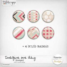 Badges | Free on my blog! #fanettedesign #digitalscrapbooking #pickleberrypop #freebies