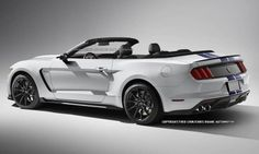 2016 Ford Mustang Shelby GT350 Convertible Rendered