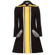 Carven Colour-Block Dress ($810) ❤ liked on Polyvore featuring dresses, black, colour block dress, block print dress, colorblock dress, color block dress and kohl dresses