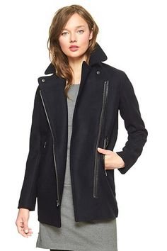 15 Gap Buys That Give You A Reason To Go To The Mall #refinery29 Gap Moto Coat, $168