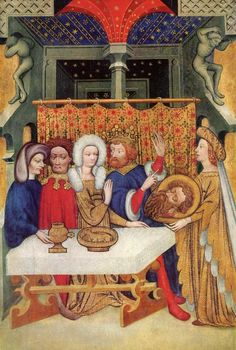 Herod's banquet by the Master of Ulm,c. 1405