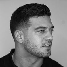 Thick Brushed Back Hair + Low Taper Fade - Best Men's Hairstyles: Cool Haircuts For Guys Mens Hairstyles With Beard, Cool Mens Haircuts, Short Hairstyles For Thick Hair, Cool Hairstyles For Men, Haircut For Thick Hair, Popular Haircuts, Fade Haircut, Short Hair Cuts, Short Hair Styles