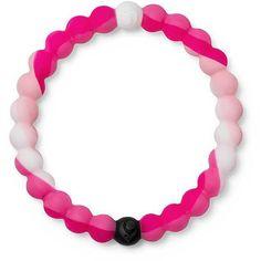 Lokai Balance Bracelet - Pink/White Large ($18) ❤ liked on Polyvore featuring jewelry, bracelets, pink bangles, silicone jewelry, white jewelry, pink jewelry and white bangle