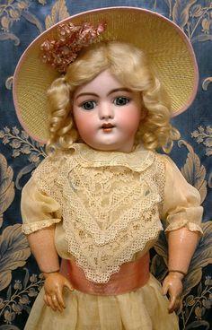 "24"" Simon & Halbig 1079 All Antique German Character Doll SPLENDID!"