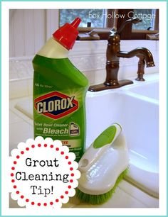 Get that white grout WHITE with this #grout #cleaning #tip