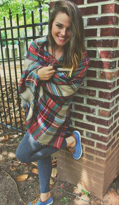 Let's Grab Coffee Plaid Scarf – Simply Taralynn Collection