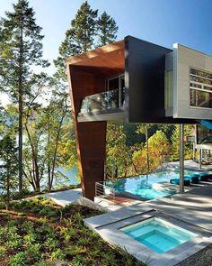 Великолепный проект. И еще круче -- пейзаж! Wonderful #modernhouse & view!
