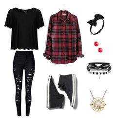 """""""Sem título #87"""" by annieantoniolli on Polyvore featuring moda, Keds, Madewell, Vanhi e Topshop"""
