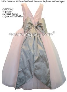 233 best gray flower girl dresses images on pinterest in 2018 flower girl dresses in baby pink and platinum gray with v back and crystal tulle mightylinksfo