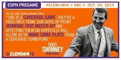 ESPN Pregame Note - #CLEMvsMIA