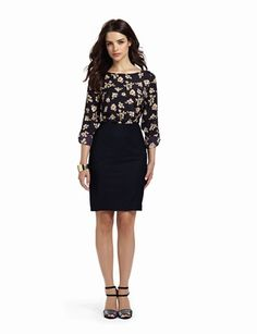 Limited - fall look, like the loose blouse with the pencil skirt