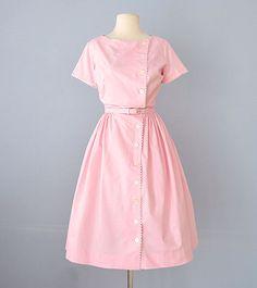 1960s BOBBIE BROOKS Cotton Day Dress